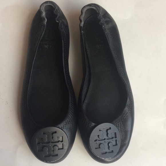543e1f049 Tory Burch Minnie Travel Ballet Flats Black 5.5. M 5a3806ad8df470b88f051386